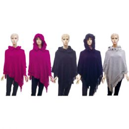 12 Bulk Lady's Hooded Knit Cloak