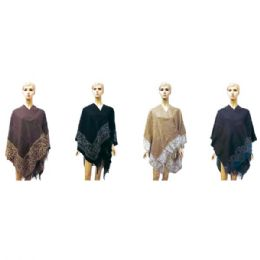 12 Bulk Lady's Woolen Cloak Assorted Colors
