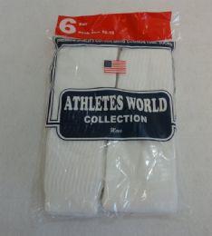 144 Bulk Yacht & Smith 31 Inch Men's Long Tube Socks, White Cotton Tube Socks Size 10-13