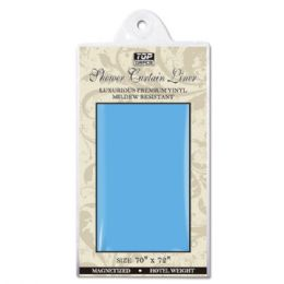 "48 Bulk Shower Curtain 70x72""/blue"