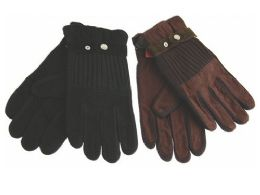 72 Bulk Women's Faux Leather Glove