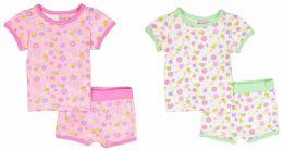 24 Bulk Infant Girls Pajama - Flower Prints - Sizes 6-24m