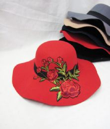 36 Bulk Womens Fashion Winter Hat With Rose