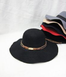36 Bulk Womens Fashion Winter Hat With Gold Strap