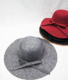 36 Bulk Womens Fashion Winter Hat With Bow In Assorted Color
