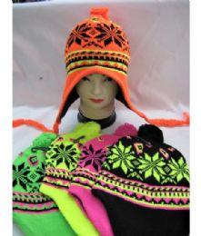 36 Bulk Neon Winter Pilot Hat