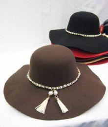 36 Bulk Womens Fashion Winter Hat With Hanging Tassel