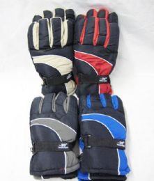 48 Bulk Mens Winter Snow Glove Assorted Color