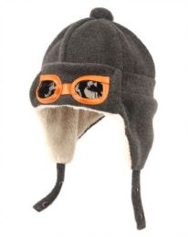 24 Bulk Kids Winter Aviator Trooper Hat W/sherpa Lining