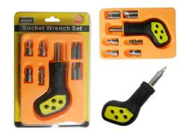 72 Bulk 9pc Socket Wrench Screwdriver Set