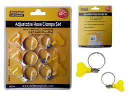 96 Bulk 6 Piece Adjustable Hose Clamps