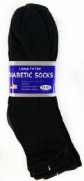 36 Bulk Men's Black Ankle Diabetic Sock