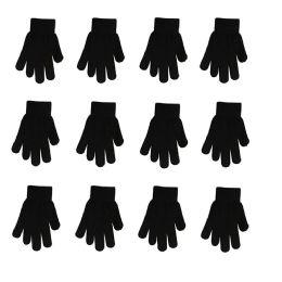 60 Bulk Children Magic Gloves In Black
