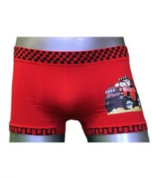36 Bulk Boys Seamless Boxer Shorts Assorted Color Size Small