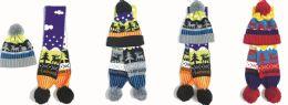 36 Bulk Kid's Winter Hat And Scarf Set