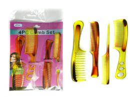 144 Bulk 4pc Assorted Combs Set