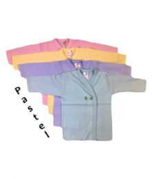 36 Bulk Strawberry Infant Long Sleeve Shirt In Assorted Pastel Colors