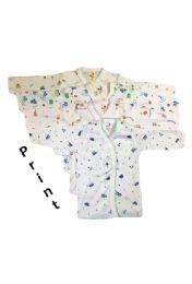 36 Bulk Printed Strawberry Infant Long Sleeve Shirt