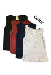 36 Bulk Strawberry Boys Infant Tank Top In Assorted Colors