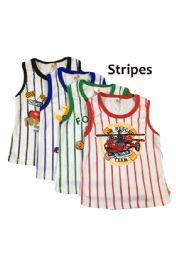 36 Bulk Strawberry Boys Striped Infant Tank Top