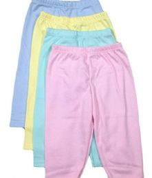 36 Bulk Straw Berry Infant Pants In Assorted Colors