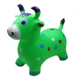 12 Bulk Inflatable Jumping Green Cattle