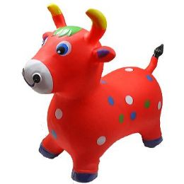 12 Bulk Inflatable Jumping Red Cattle