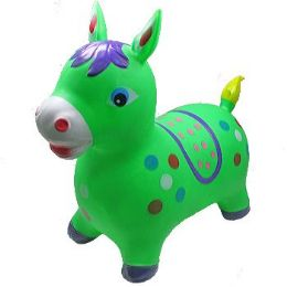 12 Bulk Inflatable Jumping Green Horse