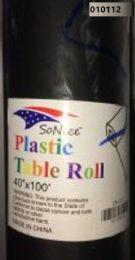 12 Bulk Plastic Table Roll In Black 40x100