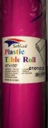 12 Bulk Plastic Table Roll In Hot Pink 40x100