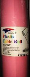 12 Bulk Plastic Table Roll In Light Pink 40x100