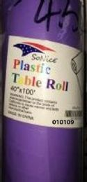 12 Bulk Plastic Table Roll In Light Purple 40x100