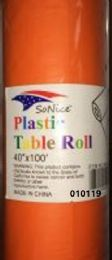 12 Bulk Plastic Table Roll In Light Orange 40x100