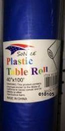 12 Bulk Plastic Table Roll In Royal Blue 40x100