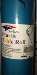 12 Bulk Plastic Table Roll In Torquoise 40x100