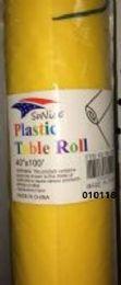 12 Bulk Plastic Table Roll In Yellow 40x100