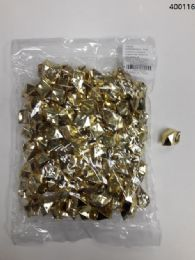 36 Bulk Plastic Decoration Stones In Gold