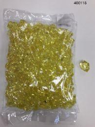 36 Bulk Plastic Decoration Stones In Yellow