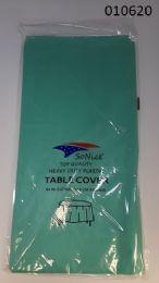 144 Bulk Heavy Duty Plastic Table Cover In Aqua 54x108