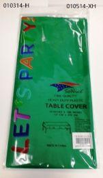 144 Bulk Heavy Duty Plastic Table Cover In Emerald 54x108