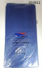 144 Bulk Heavy Duty Plastic Table Cover In Navy Blue 54x108