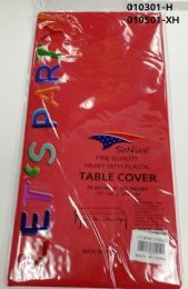 144 Bulk Heavy Duty Plastic Table Cover In Red 54x108