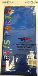 144 Bulk Heavy Duty Plastic Table Cover In Royal Blue 54x108