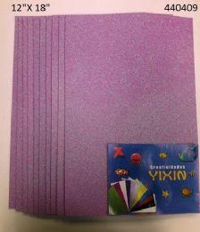24 Bulk Eva Foam With Glitter 12x18 10 Sheets In Lavender