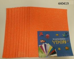 24 Bulk Eva Foam With Glitter 12x18 10 Sheets In Orange