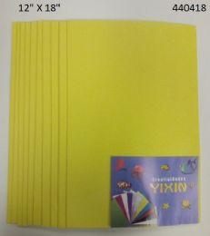 24 Bulk Eva Foam With Glitter 12x18 10 Sheets In Yellow