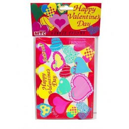 144 Bulk Happy Valentine 8 Pack Invitations/envelopes