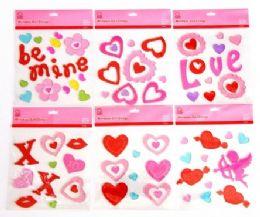 72 Bulk Valentine's Window Gel Clings