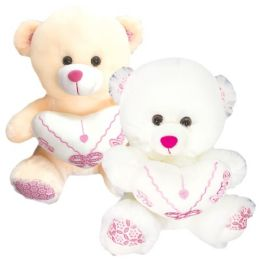 6 Bulk Twenty Inch Bear With Heart Spanish