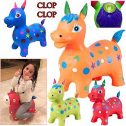 8 Bulk Bouncy Inflatable Horses With/sound